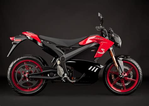 2012 Zero S Electric Motorcycle Red Angle Right With