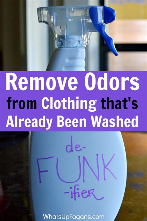 diy solution  remove odor  clothes  smell funky