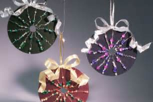 Old CD Christmas Ornament Craft