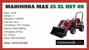 Mahindra Max 25 Xl Hst Os Price  Specs U3010offers 2020 U3011