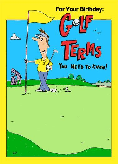 funny birthday card golfing funny golf card jokes