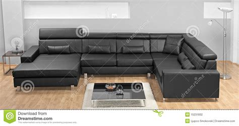 leather living room furniture a modern minimalist living room with leather sofa stock Modern