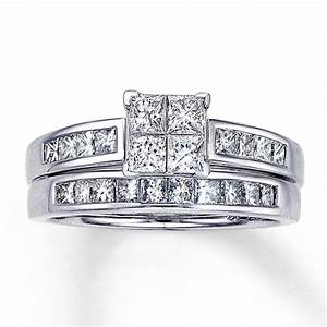 princess cut diamond engagement ring sets diamondstud With princess cut diamond wedding rings set