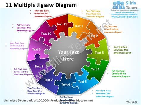 multiple jigsaw diagram powerpoint templates