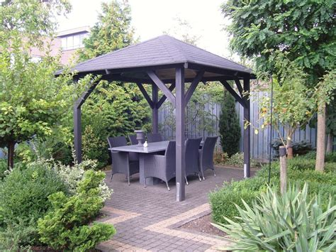 backyard gazebo economist wooden gazebo 3 4m x 3 4m fixed garden canopy