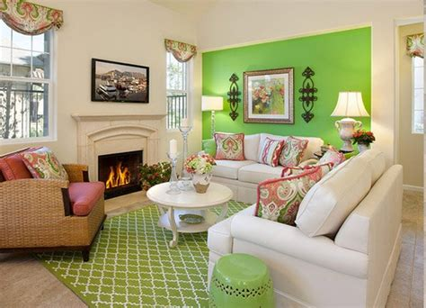 refreshing green themed living rooms home design lover