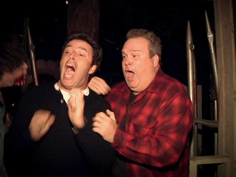 degeneres andy haunted house ellen sends her executive producer through a haunted house with modern family s eric stonestreet