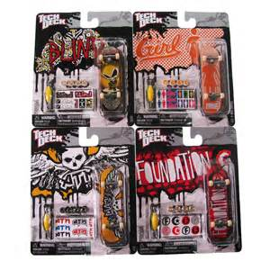 toy tech deck finger skateboard mini board pack sticker