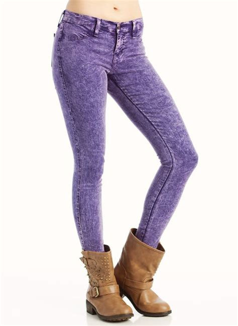 Colored Acid Wash Skinny Jeans  My Style Pinterest