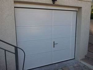 porte de garage sectionnelle plafond avec ou sans With porte de garage avec portillon integre