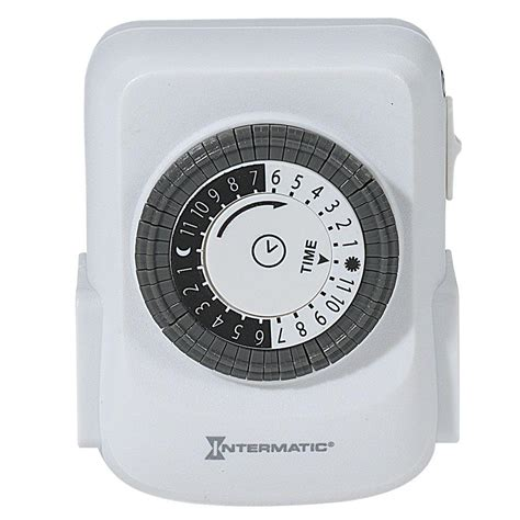 intermatic light timer intermatic 15 in 2 outlet heavy duty indoor timer