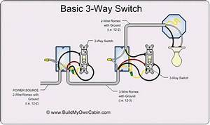 1 Gang 3 Way Light Switch Wiring Diagram
