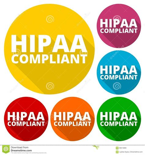 Health insurance portability & accountability act (hipaa) allows exceptions to the hipaa privacy rule when providers are treating patients covered by the as well as when providers are conducting examinations required by the washington industrial safety and health act (wisha). HIPAA - Health Insurance Portability And Accountability Act Icons Set With Long Shadow Stock ...