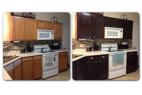 Gel Stain Cabinets Before And After by Pin By On Diy