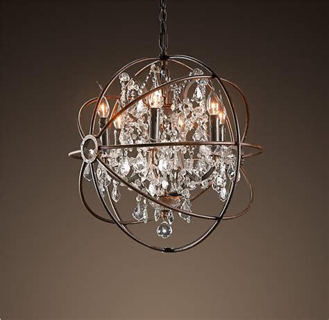 restoration hardware foucault s orb chandelier