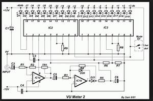 Wiring Schematic Diagram  19 Led Bar  Dot Vu Meter Using Lm3915