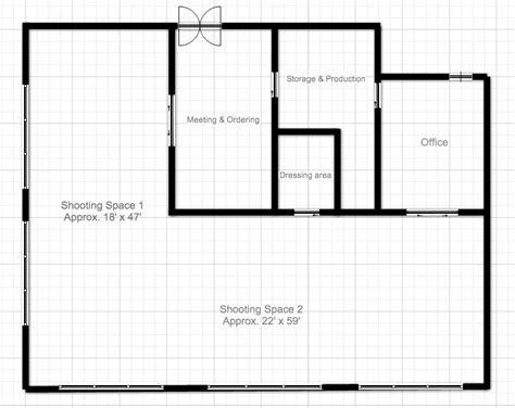 Photography Studio Building Plans Floor Plan Boston