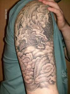 Japanese-dragon-half-sleeve-tattoo-men | Tattoos