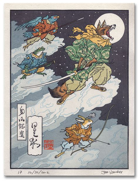 Japanese Woodblock Prints Of Classic Video Game Characters