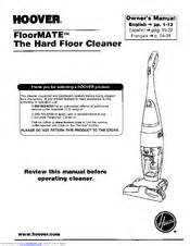hoover floormate hard floor cleaner manuals