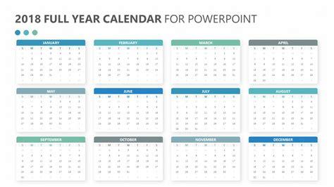 calendar template full year 2018 full year calendar for powerpoint pslides