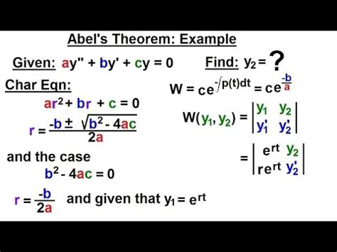 differential equation  order    abels