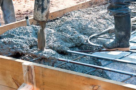beton mischen fuer fundamente im aussenbereich