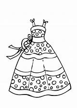 Coloring Robe Dessin Princesse Imprimer Colorier Printable Coloriage Ausmalbilder Polka Dot Desenhos Eiskonigin Clothes Dibujos Drawing Colorear Barbie Roupas Malvorlagen sketch template