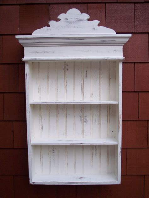 Shabby Chic Wall Cabinets For The Bathroom by Distressed White Cabinet Bathroom Cabinet Kitchen