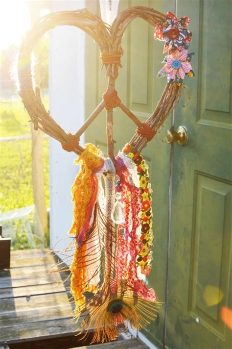 hippie boho heart dream catcher gypsy spiritswildandfree