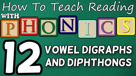 How To Teach Reading With Phonics  1212  Vowel Digraphs & Diphthongs  Learn English Phonics