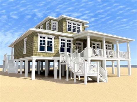beach house plans  story coastal home plan    coastal house plans beach