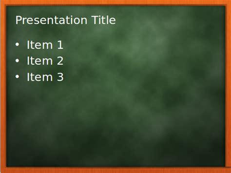 blackboard chalkboard powerpoint template hq