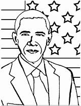 Obama Coloring Barack President Pages Printable 44th History Month Drawings Michelle Presidents Line Kidsplaycolor Quotes Template Sheet Sheets Drawing Facts sketch template