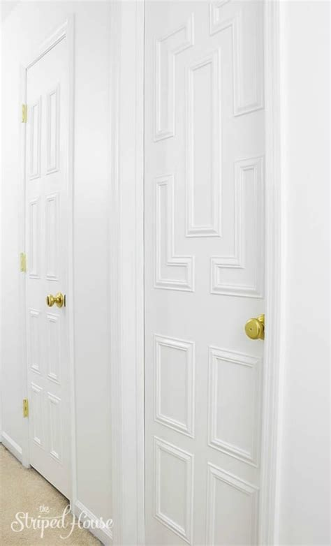 Door Makeover by Moulding Door Fluted Door Trim Kit In White