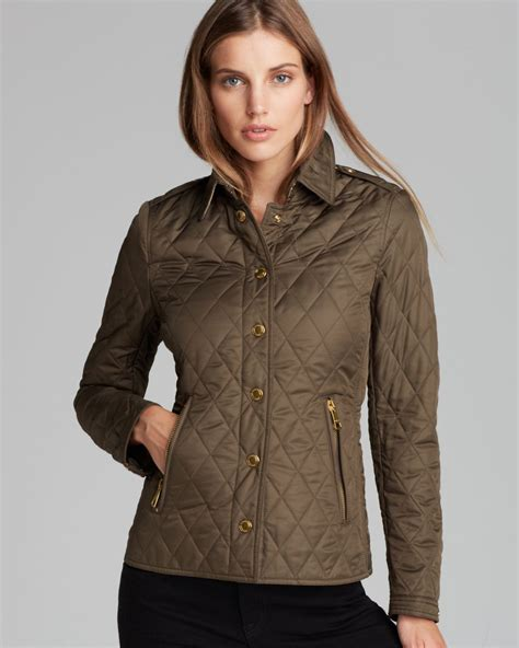 s burberry quilted jacket authentic burberry brit khaki moredale quilted jacket size