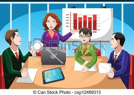 15112 international business meeting clipart business meeting a vector illustration of business