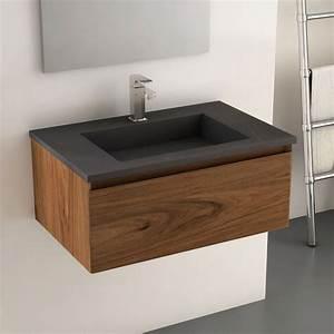 meuble de salle de bains meuble lavabo et vasque With salle de bain design avec meuble salle de bain vasque pierre naturelle