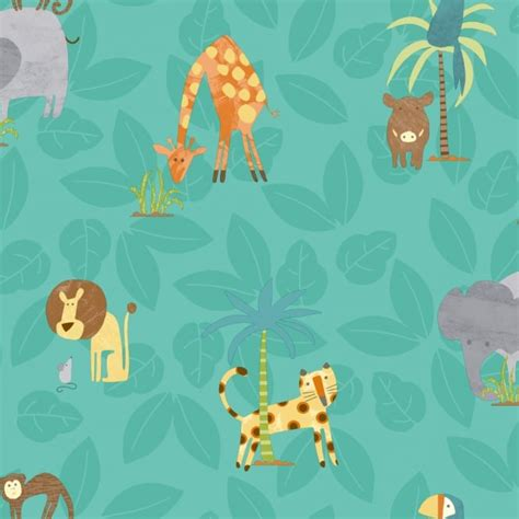 Childrens Animal Wallpaper - holden jungle friends childrens animal wallpaper