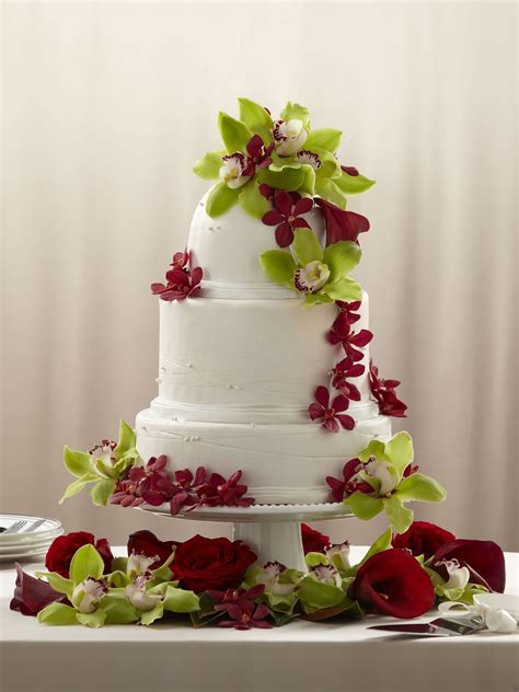 orchid cake decoration