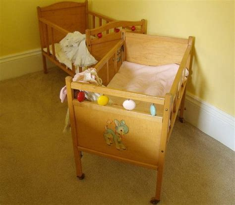 large wooden crib vintage doll bed whitney bros