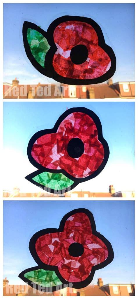 poppy suncatchers  preschoolers remembrance day art