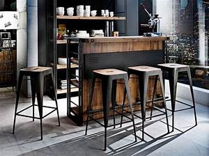 Bar Style Industriel : shopping quel tabouret de bar pour ma cuisine d co industrielle industrial decor ~ Teatrodelosmanantiales.com Idées de Décoration