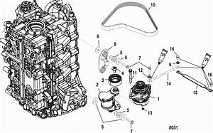 Mercury Marine 150 Hp Verado  4  Belt Tensioner Mounting Parts