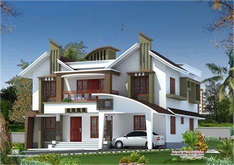 modern homes floor plans modern house elevation from kasaragod kerala kerala