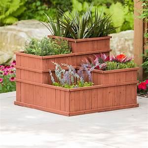 Vertical, Elevated, Outdoor, Planter, Box, For, Vegetable, Herb, Flower, Succulent, 4, Tier, Raised, Garden