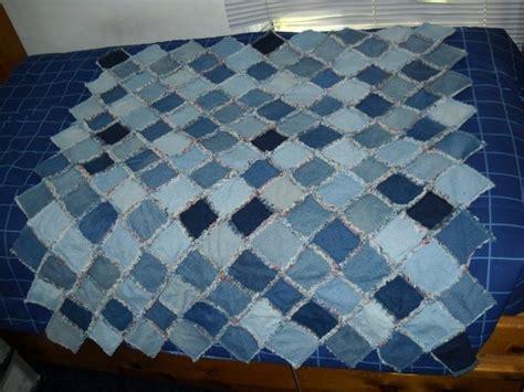 size quilt denim rag quilt size blue jean throw by