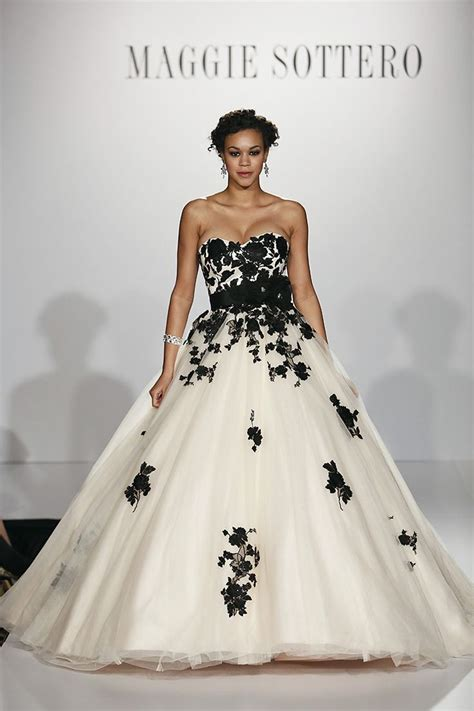 Permalink to Black And White Wedding Dresses