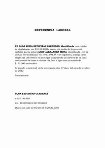 ejemplo de carta de referencia personal referencia laboral