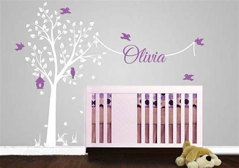 tree wall stickers with name decal elegant garden tree